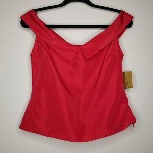 NWT Zara Basic Collection Red Blouse Sleeveless